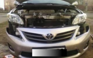 Бампер на Тойота Королла 120: подготовка авто к замене, выбор подходящего элемента кузова, пошаговая инструкция по выполнению работ и необходимые инструменты
